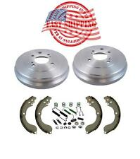 Rear Drums Brake Shoes with Hardware Spring Kit for Nissan Sentra Versa Cube