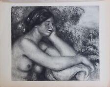 Pierre Auguste Renoir Engraving Limited First Edition La Femme Endormie 1919