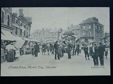 More details for staffordshire uttoxeter market day & animated market place c1905 postcard