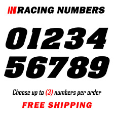 Racing Numbers Vinyl Decal Sticker | Dirt Bike Plate Number BMX Competition 200