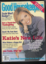Katie Couric Signed Good Housekeeping November 2000 Magazine Personalized auto