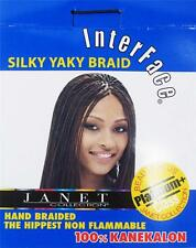 Interface Silky Yaky Braid Janet Collection Braiding Hair Kanekalon Pick Color