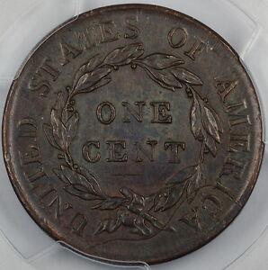 1818 Coronet Large Cent PCGS AU-55 *Reverse Struck Thru* Error Coin DGH