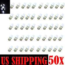 50-Pack T10 194 LED Wedge 5-SMD White 5050 Light bulbs W5W 2825 158 192 168 US