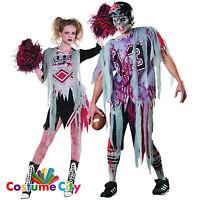 Zombie american footballer or cheerleader halloween fancy dress couples zombie american football cheerleader fancy dress halloween costume solutioingenieria Gallery