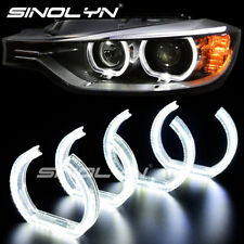 For BMW E90 E92 E93 Acrylic Crystal LED Angel Eyes Halo Rings DTM Style 7000K