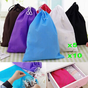 10Pcs Waterproof Non-woven Shoes Bag Travel Sport Storage Pouch Drawstring Bags