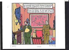 JUILLARD - BLAKE & MORTIMER / LE CAHIER BLEU (brü2) (SERIGRAPHIE N°/Signé) NEUF