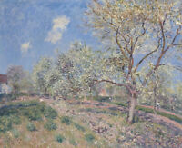 Spring At Veneux Alfred Sisley Landscape Painting Print on CANVAS Giclee Small
