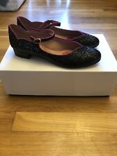 Womens Red Valentino Black Sparkle Low Heel Never Worn Size 38