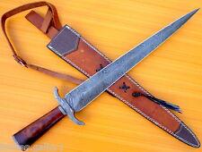 CUSTOM DAMASCUS STEEL HUNTING BOWIE KNIFE / SWORD ARKANSAS TOOTHPICK DAGGER II