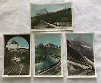 4 RPPC Color Postcards CPR Streamliner Train Canadian Rockies SceneOchrom