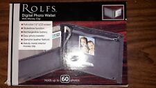"Stafford ROLFS DIGITAL PHOTO WALLET - up to 60 Photos!  1.5"" LCD Screen! NIB!"
