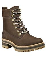 Timberland Women Courmayeur Valley Lug 6 IN Boots Size US 9.5M Dark Brown Nubuck