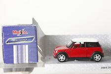 Maisto 1:43  PKW Guss Mini Cooper rot Rückzugsmotor  in OVP (121158)
