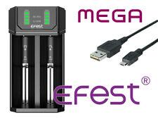 Efest MEGA Ladegerät für Li-Ionen 3,6V-3,7V und NiMh/NiCd 1,2V Rundzellen