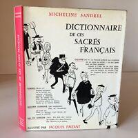 Micheline Betty Dizionario Di Ces Agrifoglio Francese Ill.Jacques Faizant 1964