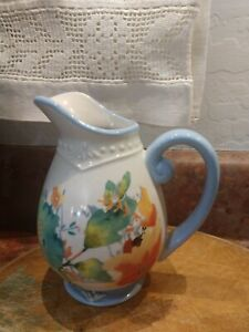 "Cute!  Pioneer Woman Willow Small 5"" Pitcher Creamer Cottage Floral New"