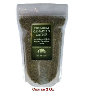 "2 Oz Premium Grade Canadian Catnip - ""Coarse Cut"" Premium Catnip Treat"