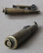 WWI ANTIQUE BRASS PETROL CIGARETTE LIGHTER TRENCH / FUNCTIONAL