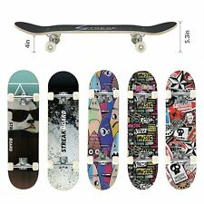 "Kids Trick Complete Skateboard 31""x 8"" Double Kick Concave Skateboards Gift Fun"