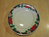 Tienshan DECK THE HALLS Dinner Plate 1 ea Christmas Poinsettia      22 available
