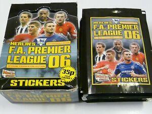 47x Lot Merlin's FA Premier League 06 Sealed & Unopened Sticker Packs