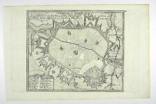 TOURNAI WALLONIEN BELGIEN KUPFERSTICH ANSICHT BODENEHR 1720 #D840S