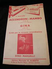 Partition Accordéon Mambo Dino Margelli Gina  Music Sheet