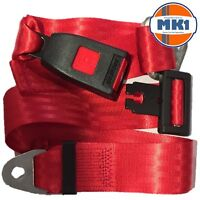 Securon 210 Red Lap Seat Belt Universal Fitment Front Rear Mini Bus Coach Camper