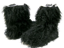 UGG FLUFF MOMMA MONGOLIAN WOMEN BOOTS BLACK US 8 /UK 6.5 /EU 39 /JP 25
