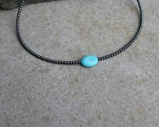 Men's Surfer Turquoise Beaded Necklace Choker Beaded Necklace with lobster clasp