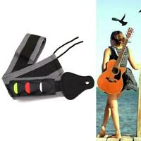 Electric Acoustic Bass Guitar Strap Belt Nylon With 3 Plectrums Holders Pic G7S4