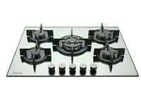 MILLAR GH7051PS 5 Burner Built-in Gas on Glass Hob 70cm - Cast Iron Stands & Wok