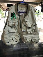 Columbia Men's S Fly Fishing Utility Khaki Vest Small