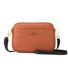 Light Weight Leather Women Messenger Shoulder Bag Phone Crossbody Bag +1 wallet