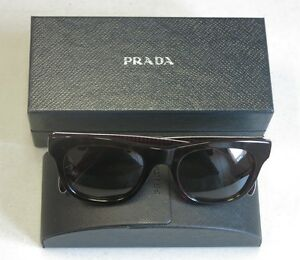 Prada Authentic SunglassesPR 04QS 2AU1X1 Dark Brown Havana Black Brown! 31561