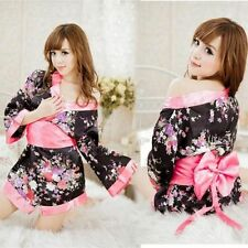 Costume Completino Rosa Pink Fiori Kimono Giapponese Cosplay Molto Sexy Japanese