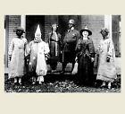 Scary Vintage Creepy Halloween PHOTO Freak Scary Strange Witch Clown House Porch