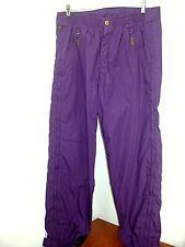 Powderhorn Joe Shell Pant Purple Ski Pants Leather Trim 36 x 32 Pmn 034 Powder
