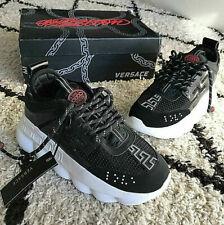 2020 NEW VERSACE Chain Reaction Black & White Shoe Sneakers 8US 7.5UK 41EU