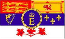 CANADA CANADESE REALE STANDARD BANDIERA 5X3 - ROSSO GIALLO BIANCO BLU STEMMA