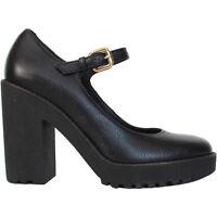 HOGAN scarpe decollete tacco pelle nera Mary Jane black leather heels €310