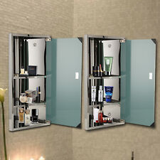 Wall Mounted Bathroom Corner Cabinet Mirror Cupboard Storage Unit Door 600x300mm