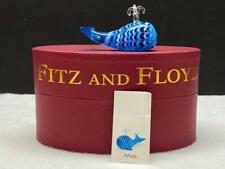 2005 Fitz & Floyd Glass Menagerie Blue Whale in Original Box