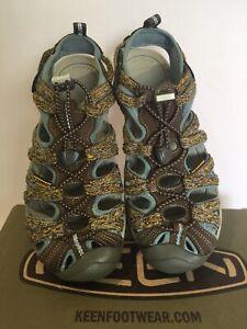 Keen Whisper Women Cascade StoneBlue Outdoor Water Hiking Sport Sandals siz 7.5
