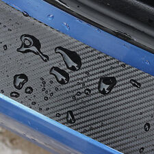 4D Car Door Pedal Rear Bumper Trunk Tail Lip Carbon Fiber Protect Sticker Covers