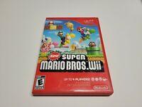 New Super Mario Bros Wii (Nintendo Wii, 2009) CIB Complete TESTED