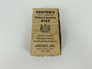 Vintage Herters 30/06 Sizing & Seating Dies Reloading Full Length Set