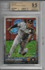 CARLOS CORREA 2015 Topps CHROME Bubble REFRACTOR Rookie RC Card BGS 9.5 GEM MINT